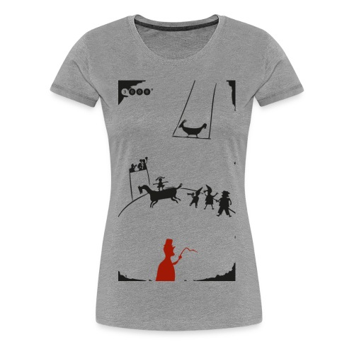 ZIRKUSFRAU WHITE - Frauen Premium T-Shirt