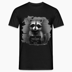 Raccoon Mugshot T-Shirts