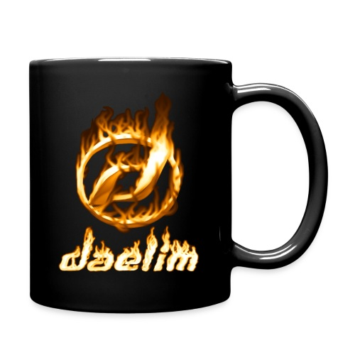 Heiße Tasse mit Daelim Logo und Schriftzug (und Forum-URL vorne) - Tasse einfarbig