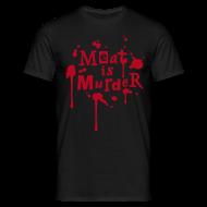 T-Shirts ~ Männer T-Shirt ~ Mens Shirt 'Meat is Murder'