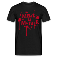 T-Shirts ~ Männer T-Shirt ~ Mens Shirt 'Meat is Murder'