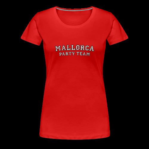 Mallorca Party Team T-Shirts (Damen Schwarz/Weiß) - Frauen Premium T-Shirt