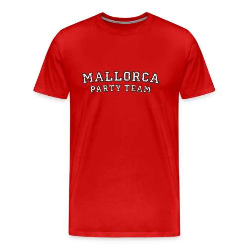 Mallorca Party Team T-Shirts (Herren Schwarz/Weiß) - Männer Premium T-Shirt