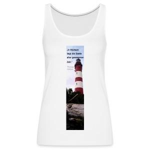 Riesen-Lesezeichen Leuchtturm Amrum + Zitat - Frauen Premium Tank Top