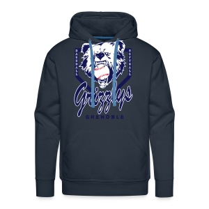 SWEAT CAPUCHE DOP GRIZZLYS Navy - Sweat-shirt à capuche Premium pour hommes