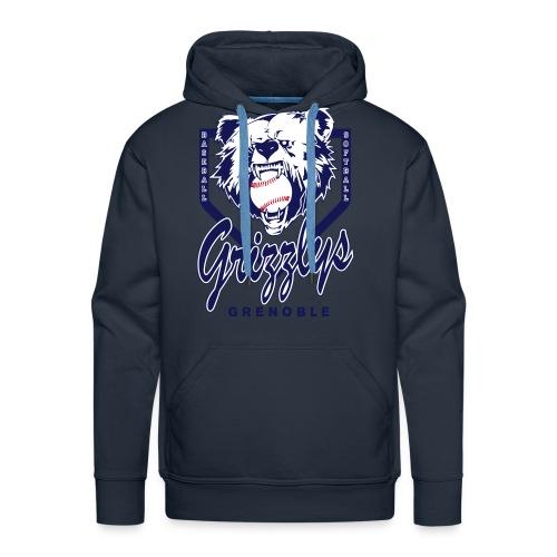 SWEAT CAPUCHE DOP GRIZZLYS Navy - Sweat-shirt à capuche Premium pour hommes