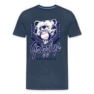 T-SHIRT DOP GRIZZLYS Navy - T-shirt Premium Homme