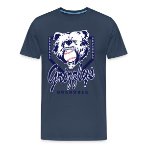 T-SHIRT DOP GRIZZLYS Navy - T-shirt Premium Homme