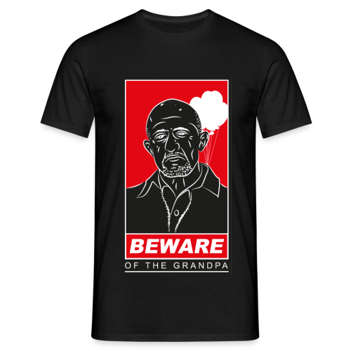 Grandpa Mike black - Männer T-Shirt