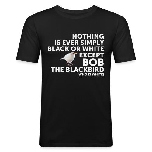 Black Or White - Men's Slim Fit T-Shirt
