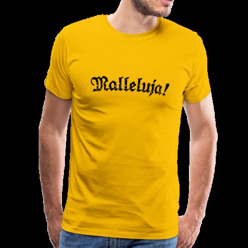 Malleluja - Mallorca T-Shirt (Herren Gelb/Schwarz) Distressed Look - Männer Premium T-Shirt