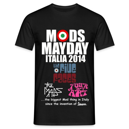 Mods Mayday Italia 2014 - Men's T-Shirt