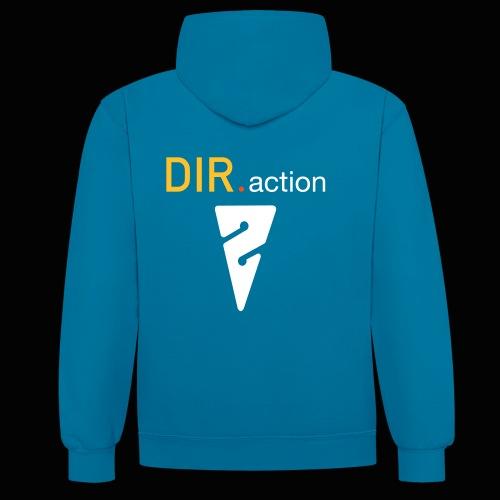 DIR.action Unisex-Kapuzensweater in 4 weiteren Farben - Kontrast-Hoodie