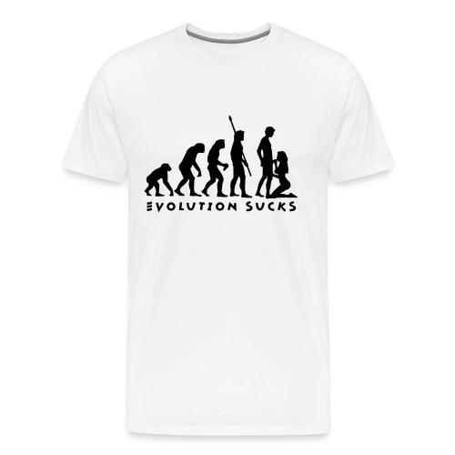 Evolution Sucks - Koszulka męska Premium