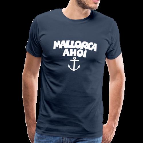 Mallorca Ahoi T-Shirt (Herren Navy/Weiß) - Männer Premium T-Shirt