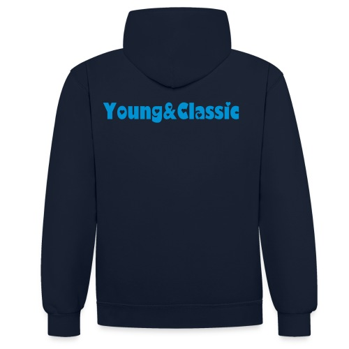 Young&Classic Pullover Damen  - Kontrast-Hoodie