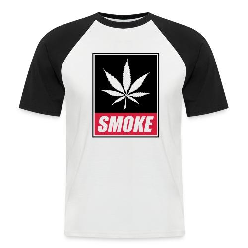 SMOKE - Männer Baseball-T-Shirt