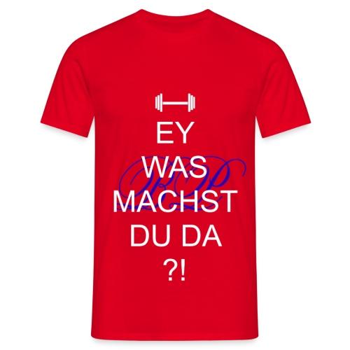 Weiß-Rot - Männer T-Shirt
