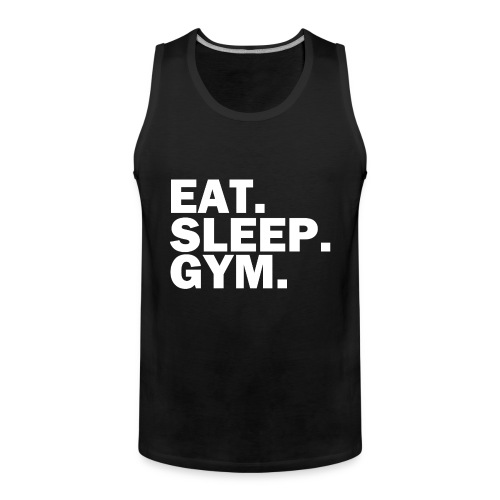 Eat. Sleep. Gym. Tank - Männer Premium Tank Top