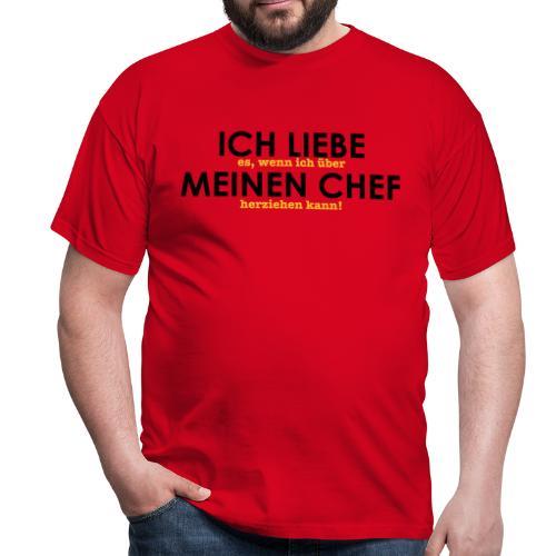 Ich liebe... Chef - Männer T-Shirt