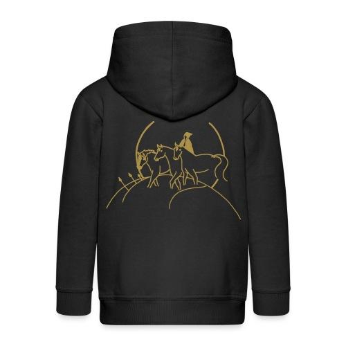 Ying Yang & Cover - KIDS Zipper (Print: Gold Glitter) - Kinder Premium Kapuzenjacke