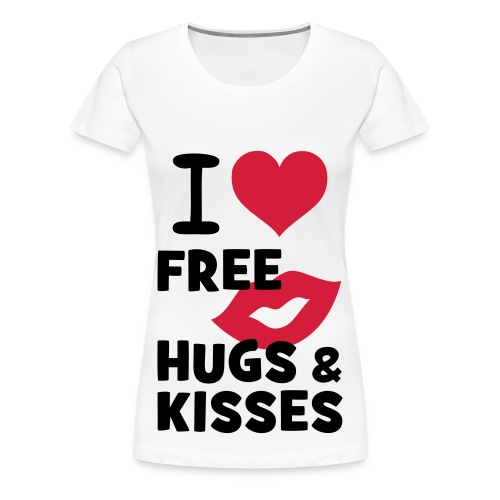 Hugs and kisses | Women T-shirt/Girls - Dame premium T-shirt