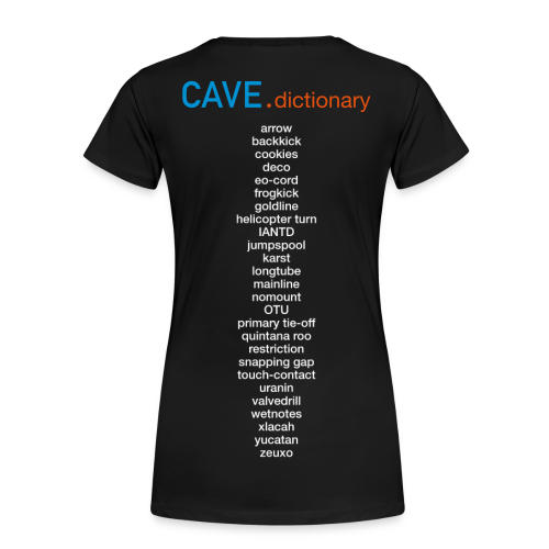 woman_Cave-dictionary ;-) Rückenprint - Frauen Premium T-Shirt