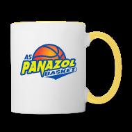 Bouteilles et Tasses ~ Tasse bicolore ~ Mug en céramique BLANC & JAUNE
