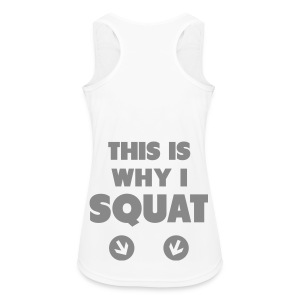 this is why i squat  - Funktions-Tank Top  - Frauen Tank Top atmungsaktiv