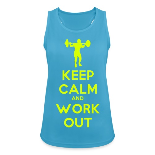 KEEP CALM - Funktions-Tank Top  - Frauen Tank Top atmungsaktiv