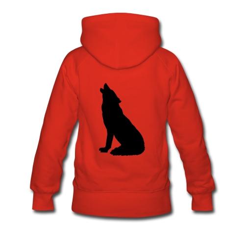Heulender Wolf - Frauen Premium Hoodie