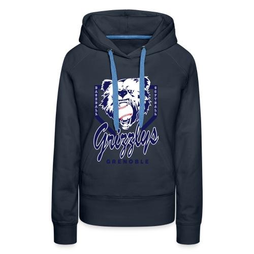 SWEAT CAPUCHE GIRL GRIZZLYS Navy - Sweat-shirt à capuche Premium pour femmes