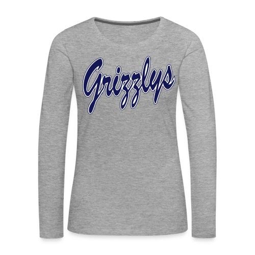 T-SHIRT LONG GIRL LETTER Grey - T-shirt manches longues Premium Femme