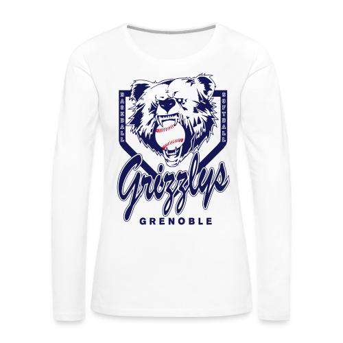 T-SHIRT LONG GIRL GRIZZLYS - T-shirt manches longues Premium Femme