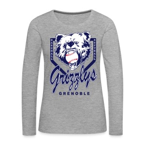 T-SHIRT LONG GIRL GRIZZLYS Grey - T-shirt manches longues Premium Femme
