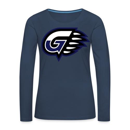 T-SHIRT LONG GIRL G'S Navy - T-shirt manches longues Premium Femme