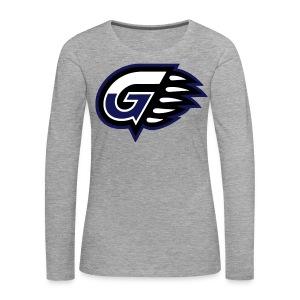 T-SHIRT LONG GIRL G'S Grey - T-shirt manches longues Premium Femme