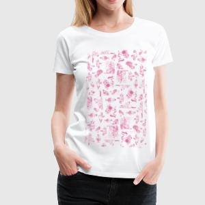 PoneyDessins Rose Thelwell Dessin Tee shirts - T-shirt Premium Femme
