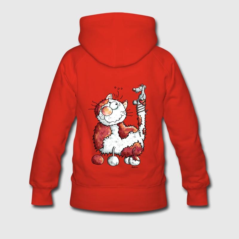 Felpa con cappuccio con felice gatto gatti spreadshirt for Felpa con marsupio porta gatto