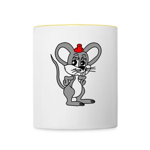 Tasse mit Maus Motiv - Tasse zweifarbig