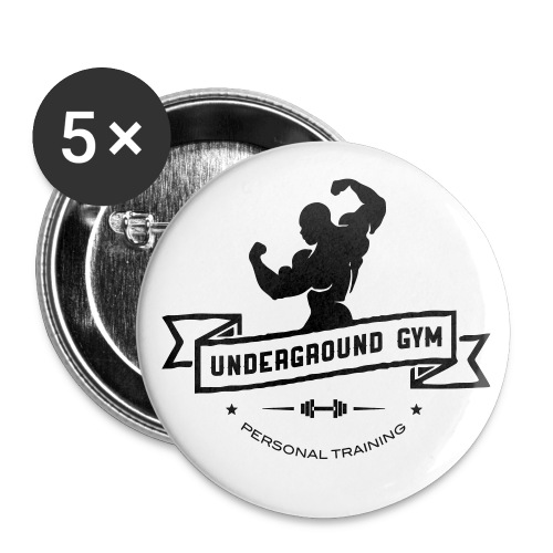 UNDERGROUND GYM  Pin-up 5 Pack - Buttons groß 56 mm