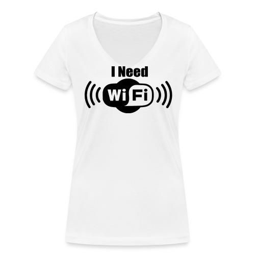 Female V: I Need WiFi DD - Frauen Bio-T-Shirt mit V-Ausschnitt von Stanley & Stella