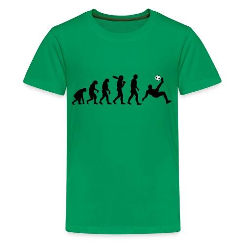 Evolution Fussball - Teenager Premium T-Shirt