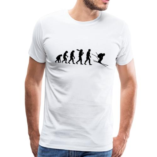 Evolution Skifahrer - Männer Premium T-Shirt