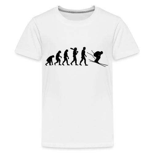 Evolution Skifahrer - Teenager Premium T-Shirt