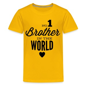 no1 brother of the world Camisetas - Camiseta premium adolescente
