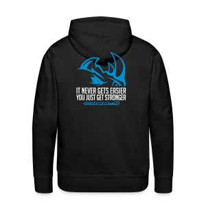 It never gets easier D2 | Mens hoodie - Men's Premium Hoodie