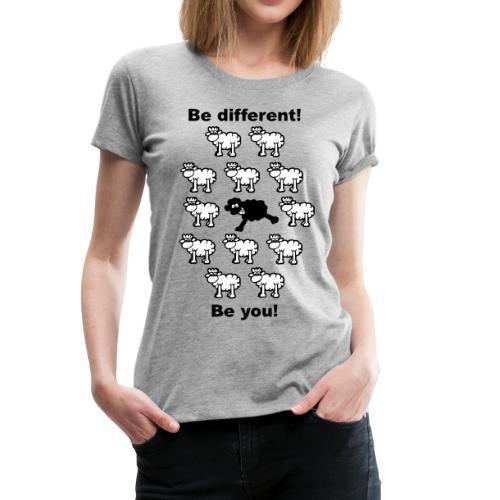 Mujer-Camiseta 'Sé diferente' - Camiseta premium mujer