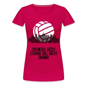 Volleyball City T-shirt - Women's Premium T-Shirt