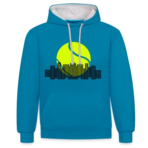 Tennis City Sweatshirt - Contrast Colour Hoodie